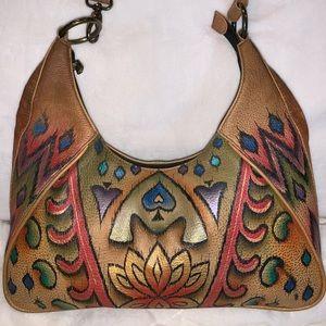 Anuschka leather purse in good used condition
